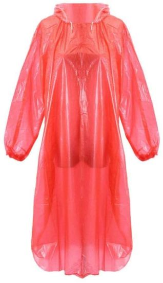 Disposable Plastic Emergency Waterproof Rain Coat Hood Poncho Camping Clear