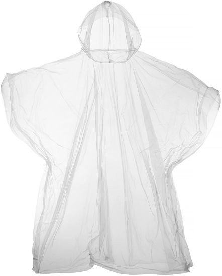 Plastic Reusable Poncho (One Size) (Clear)