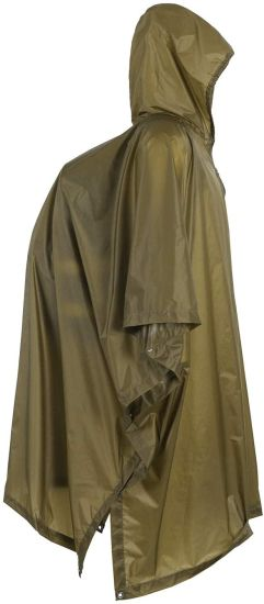 Poncho, Lightweight Military Style Raincoat, Ripstop Rain Poncho (Coyote Brown)