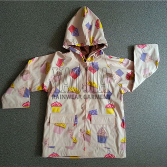 Fashion Design PVC Rain Wear for School Students