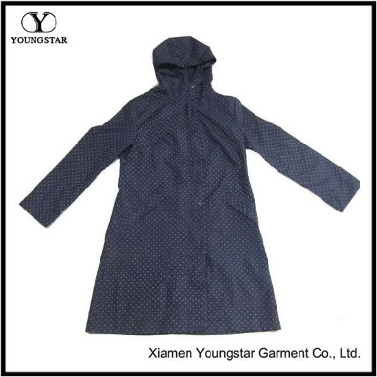 Promotional Fashion Design Ladies Waterproof PVC Raincoat