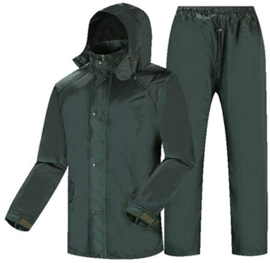 Light Rain Jacket, Waterproof Reflective Poncho, Waterproof Jacket/Pants Set Adult Windproof Coat/Pants Set Raincoat