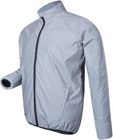 Water Resistant, Easy Care, Front Pockets, Full Zip, Long Sleeve Jacket - Perfect for Everyday Use Raincoat