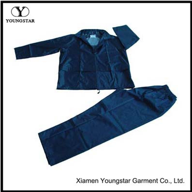 Cheap Practical Polyester / PVC Waterproof Rainsuit / Rain Suit
