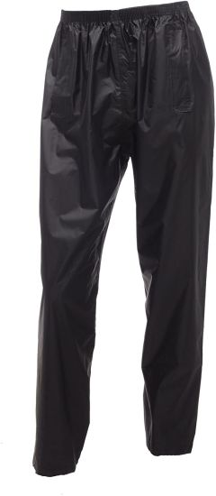 "Adults Stormbreak Waterproof Over Trousers Mens Womens Ladies Unisex W308 (Small 30""-32"" Waist, Black)"