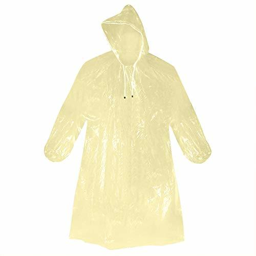 Raincoats Disposable Adult Emergency Waterproof Rain Coat Cape Hiking Camping W/Hood