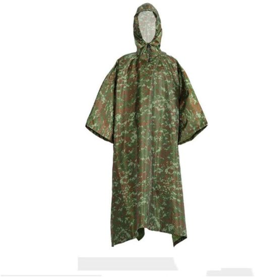 Multifunction Raincoat Poncho Cover Tent Hiking Rainwear Outdoor Camp Rain Coat Raincoats-Camouflage_One_Size_United_Statesrain Poncho for Adults