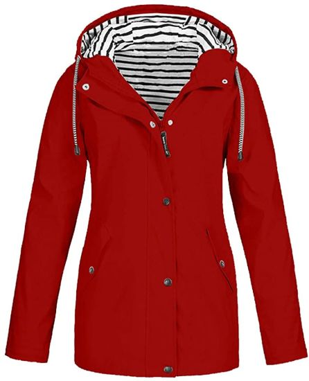 Waterproof Hooded Windbreaker Jacket for Women