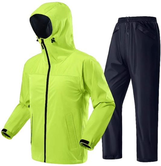 Golf Mens Rain Coat Waterproof Fishing Rain Gear Jacket and Pants 2-Pieces Ultra-Lite Suits