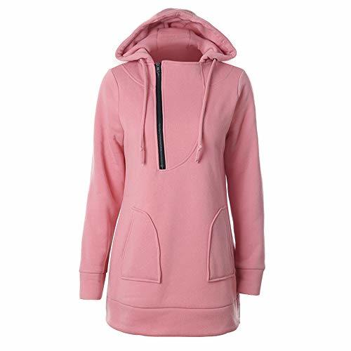 Autumn/Winter Warm Solid Color MID-Long Sports Hoodie Long Sleeve Shirt