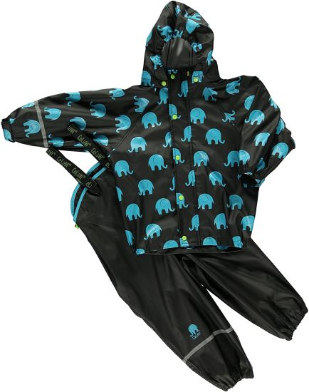 Unisex Suit W Elephant Print Raincoat