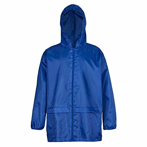 Unisex Kids Boy Girl Waterproof Plain Raincoat Jacket Hooded