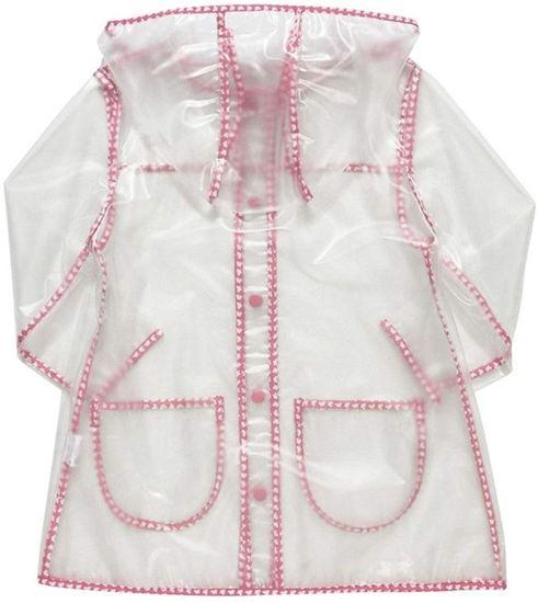Clear Pretty Butterflies Rain Mac Waterproof Coat Jacket