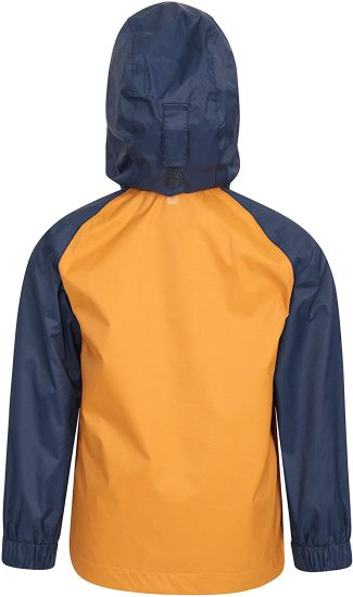 Kids Waterproof Jacket - Ripstop Outer Rain Coat, Taped Seams, Mesh Lined, Zipped Pockets - for Travelling, Camping, School