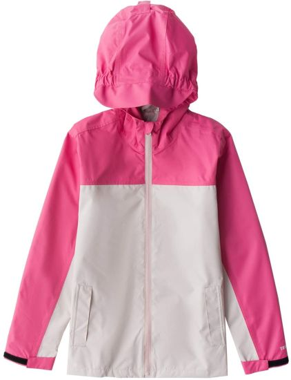 Rain Jacket Girls Outerwear Raincoat Super Lightweight Waterproof Breathable Windcheater Coat with Hood for Raining School Day, Hiking and Camping Magic Display