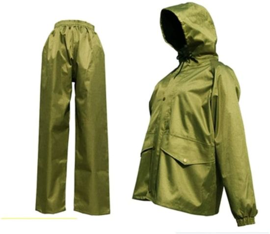 Outdoor Hiking Raincoat, Waterproof and Wear-Resistant Poncho (green) (Color: Green suit, Size: XXL)