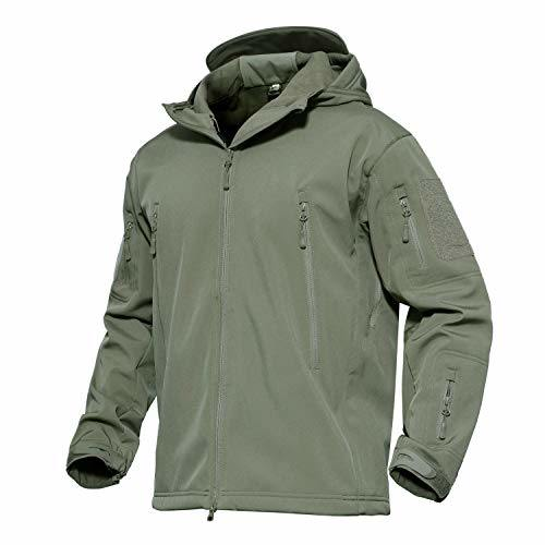 Waterproof Military Combat Jacket Tactical Soft Shell Fleece Jackets with Multi Pockets
