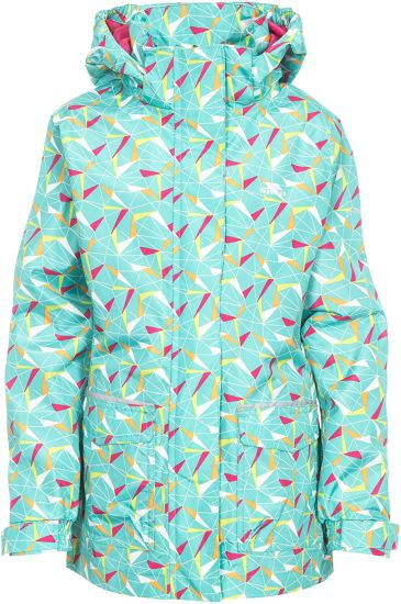 Kids Twinkling Waterproof Rain Jacket with Concealed Hood and Reflective Details