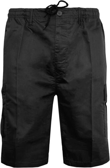 Mens Plain Shorts Cargo Combat Casual Summer Beach Sports Fashion Poly Cotton Travel Pockets Work Short Elasticated Waist Lightweight Half Pants Plus Big Sizes