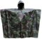 Military Camouflage Portable Emergency Rain Poncho, Raincoat Nylon Totes Travel Rain Wear for Camping Hiking Cycling