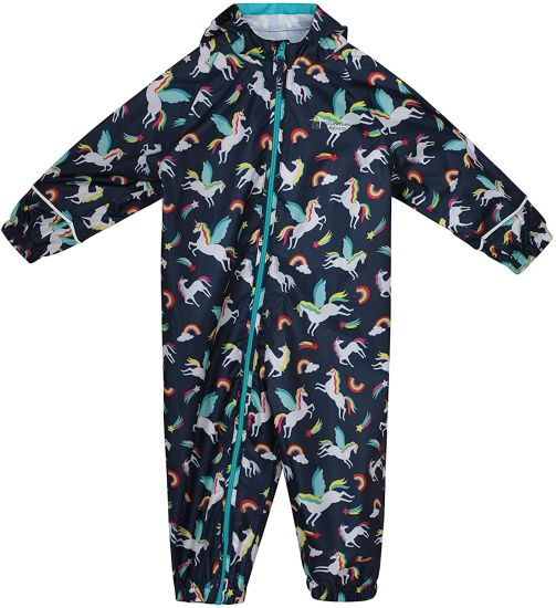 Mountain Warehouse Puddle Kids Printed Rain Suit - Waterproof Children Rain Coat, Breathable Waterproof Coat, Taped Seams Winter Suit, High Suit