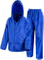 Kids Waterproof Jacket & Trousers Suit Set in Black, Navy Blue or Royal Blue Childs Childrens Boys Girls