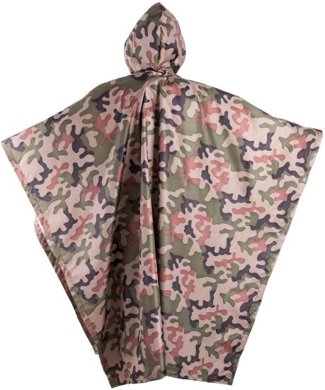 Men′s and Women′s Camouflage Outdoor Poncho Summer Raincoat