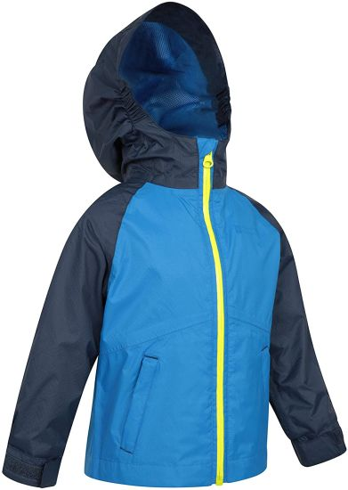 Baby Jacket - Waterproof Outer Kids Rain Jacket, Taped Seams, Mesh Lined, Adjustable Pockets - for Daily Use, Travelling