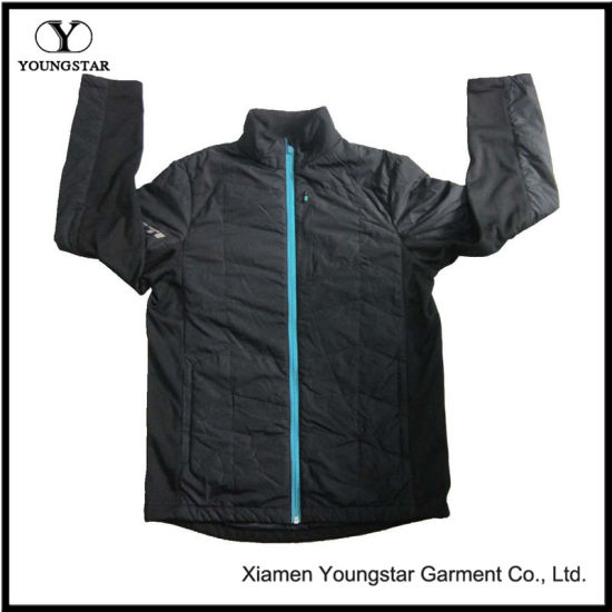 Ys-1066 Black Lined Waterproof Breathable Winter Mens Softshell Jacket