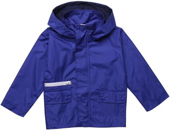Kids Hooded Waterproof Lightweight Packable Windbreaker Outdoor Rain Jacket Trench Coat