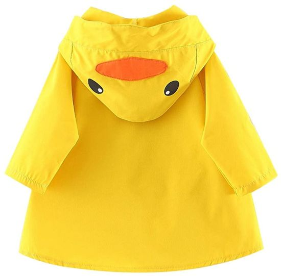 Yellow Duck Trench Coat Pocket Autumn Windbreaker Toddler Jacket Windproof Casual Kids Outwear for 6months-3years Old