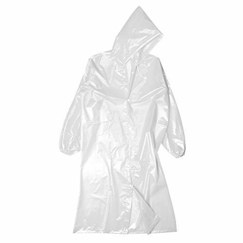 Rain Poncho Sports Raincoats, Waterproof Rain Poncho for Adults, Portable Emergency Raincoats with Hat Cap for Outdoor Travel