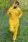 Waterproof PVC Rain Suit Yellow Raincoats Rain Jackets Overalls