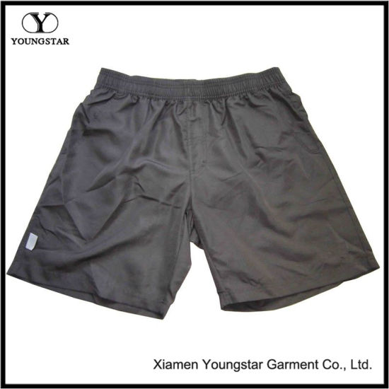 Pure Color Polyester Men′s Sports Short / Hiking Pants for Outdoor
