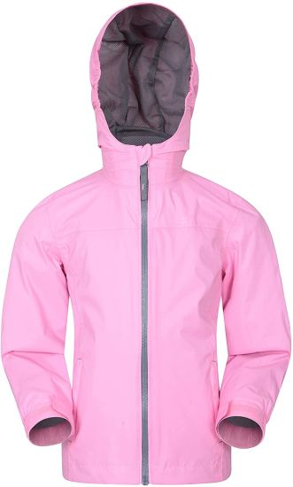 Kids Waterproof Rain Jacket - Taped Seams Raincoat, Lightweight, Breathable, Girls & Boys Rainwear