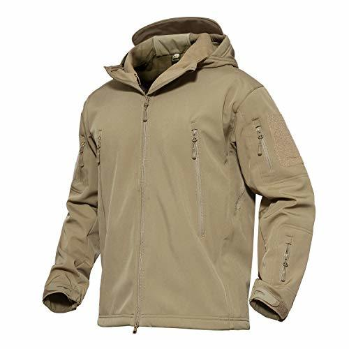 Military Combat Jacket Tactical Soft Shell Fleece Jackets with Multi Pockets